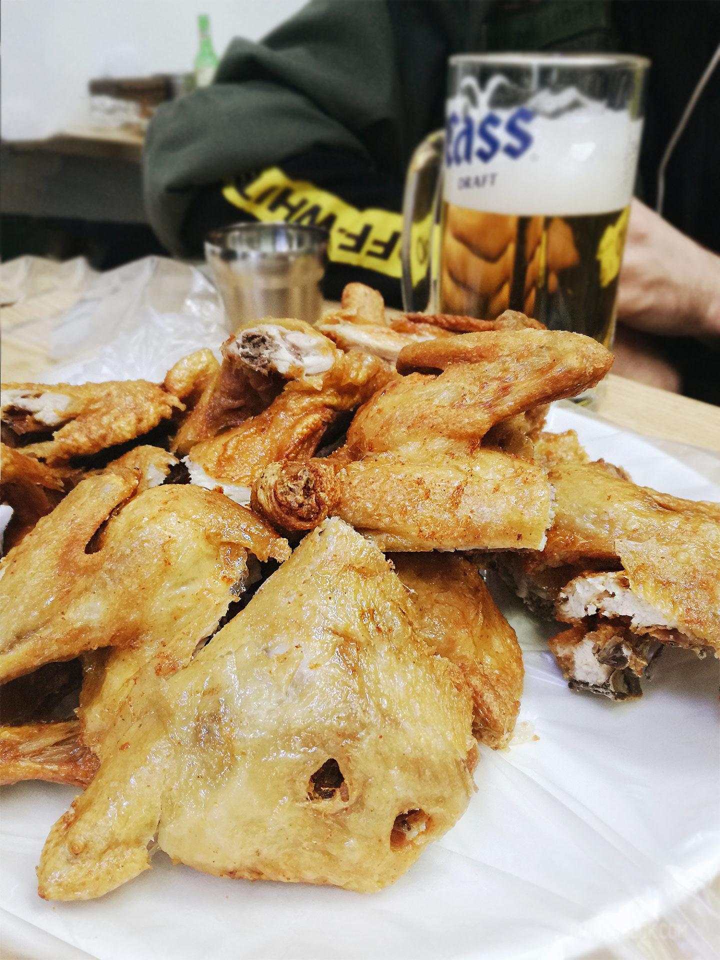 gastronomie coréenne - poulet frit