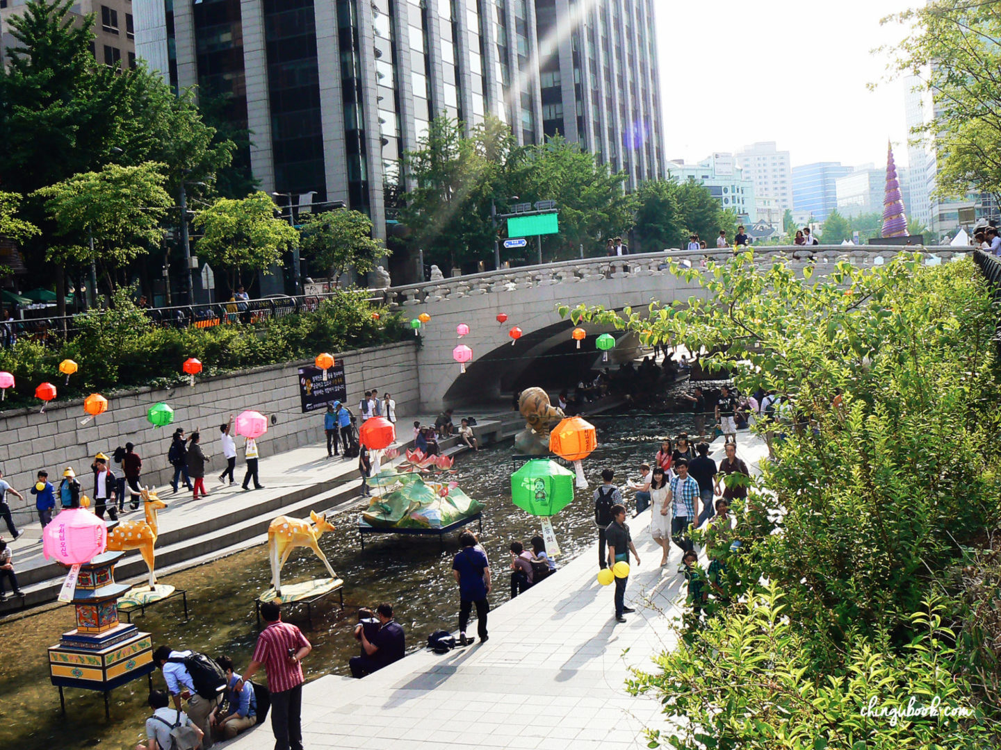Cheonggyecheon printemps