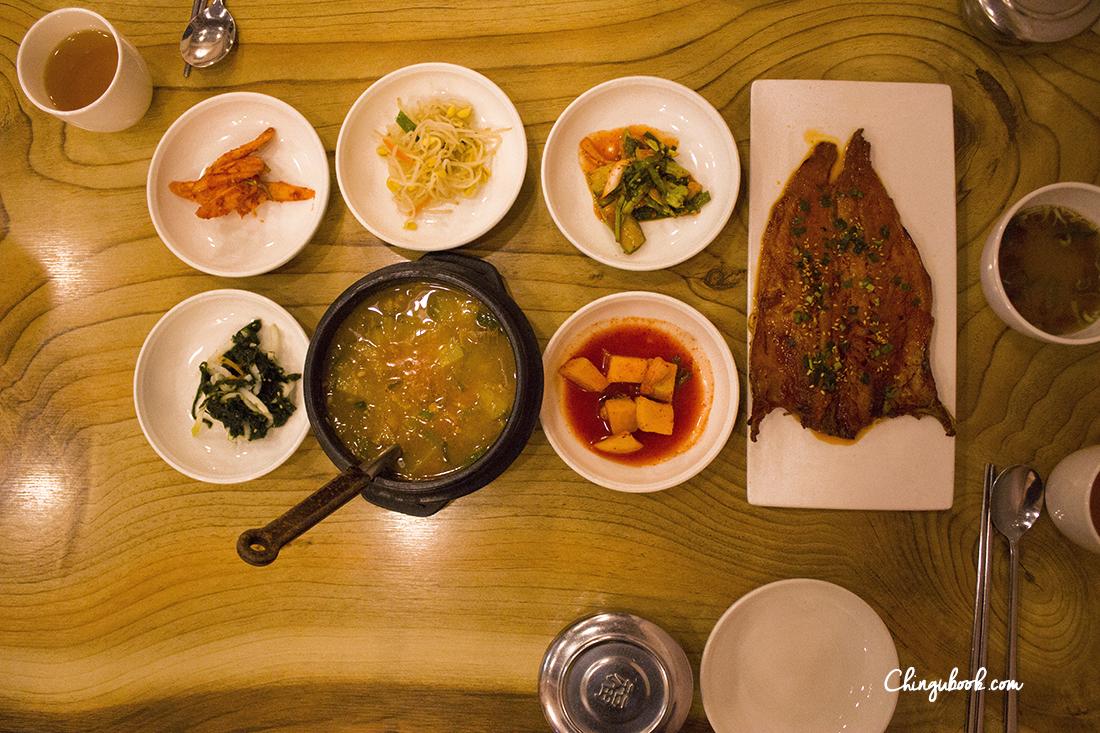 Cuisine coréenne en automne