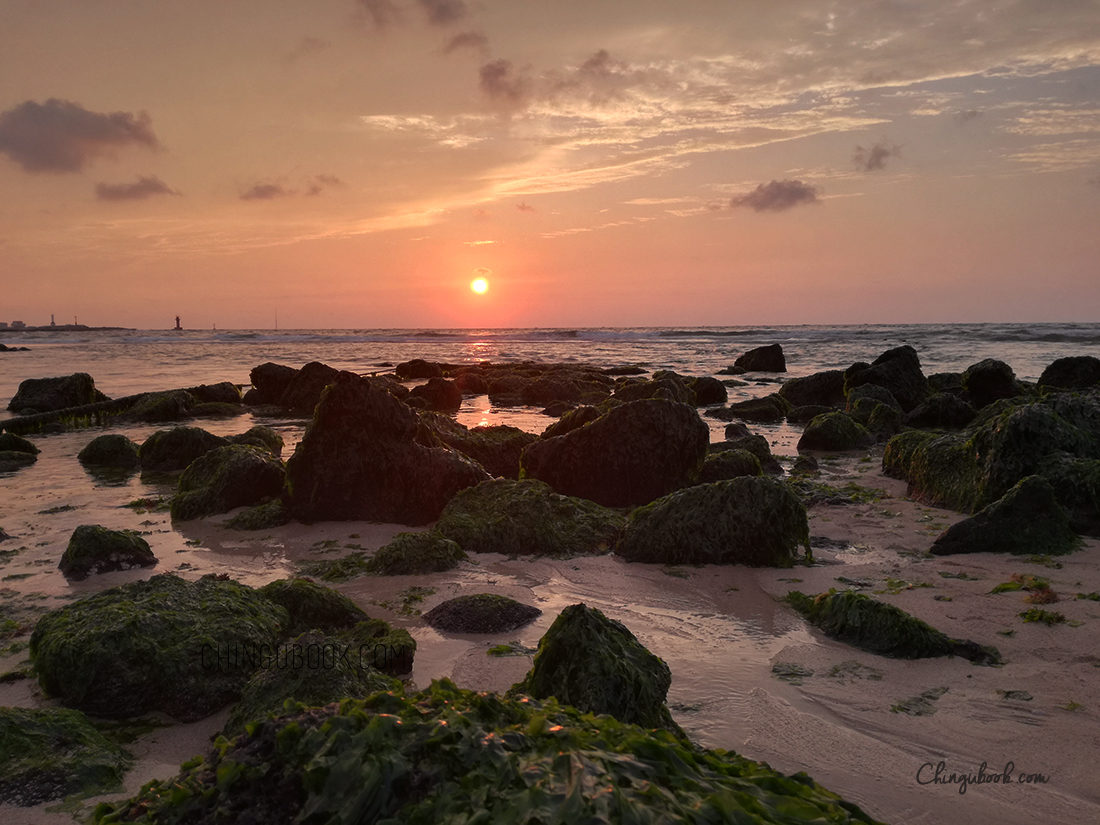 Jeju island coucher de soleil