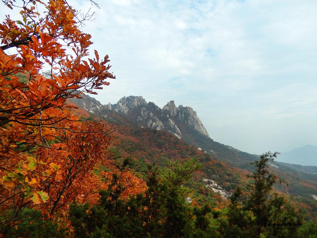 Le paysage coréen en automne