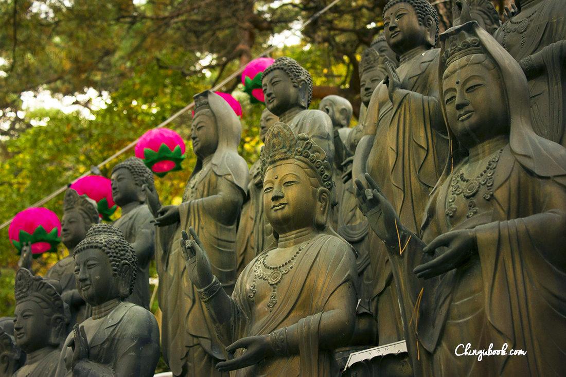 Temple dans les montagnes Corée du sud