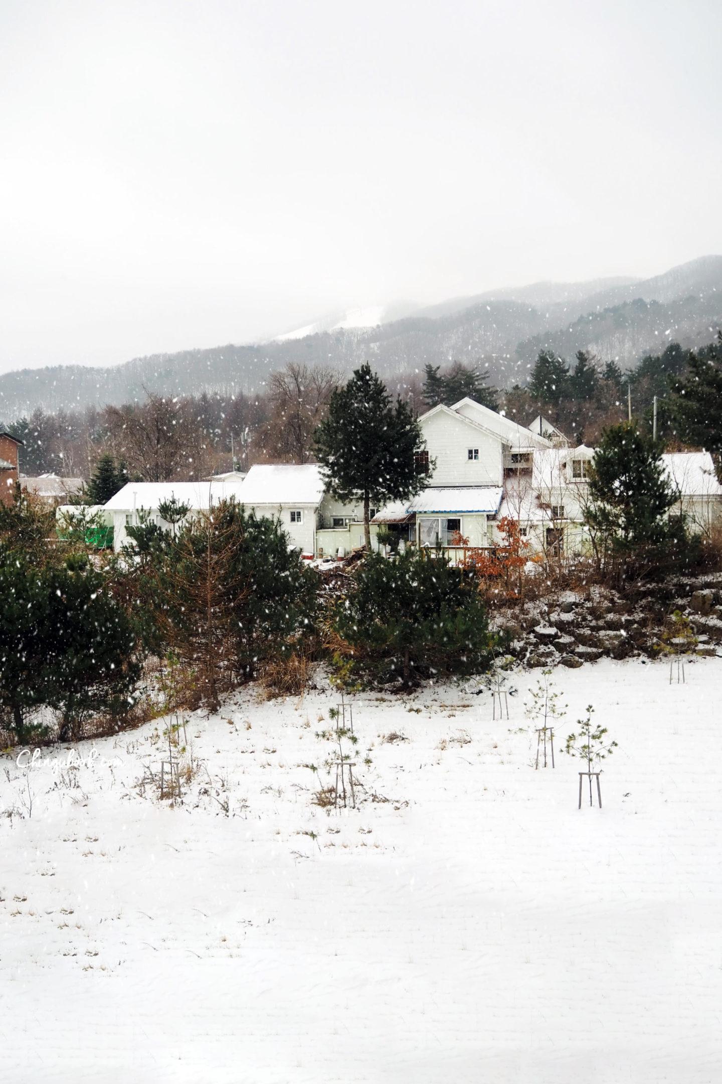 Gangwondo - Paysage coréen hiver